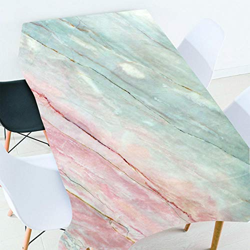 REQATABLECLOTH Mantel De Impresión De Efecto 3D Mármol Tischdecke Tischdecken Für Gartentisch 150x180cm