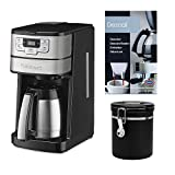 Cuisinart Blade Grind and Brew 10-Cup Thermal Carafe Coffeemaker with Canister and Descaling Powder Bundle (3 Items)