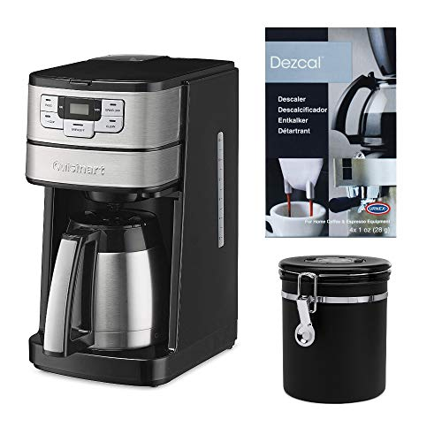 Cuisinart Blade Grind and Brew 10-Cup Thermal Carafe Coffeemaker with Canister and Descaling Powder Bundle 3 Items
