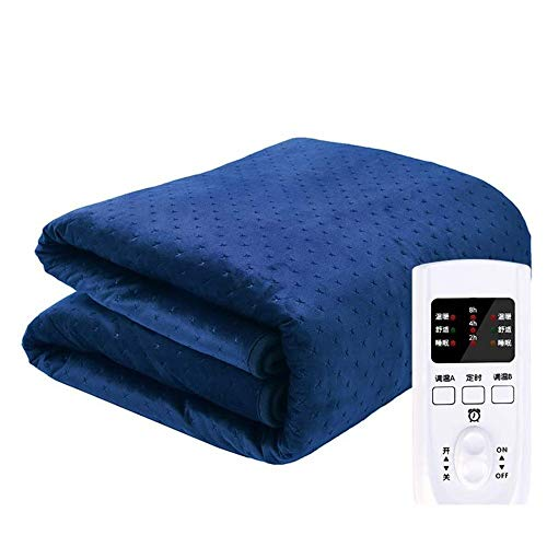 Auto Safety Shut Off Timer Control Velvet Double Control Heated Electric Blanket Built in Overheat Protection (Color : 160x130CM(62.99x51.18In))