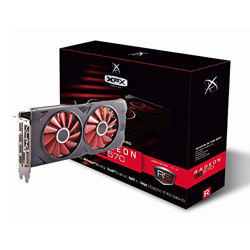 XFX Radeon RX 570 RS XXX Edition 1286MHz, 8gb GDDR5, DX12 VR Ready, Dual BIOS, 3xDP HDMI DVI, AMD Graphics Card (RX-570P8DFD6)