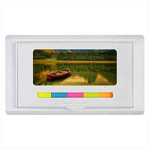 'Boat On A Lake' Sticky Note Ruler Pad (ST00002121)
