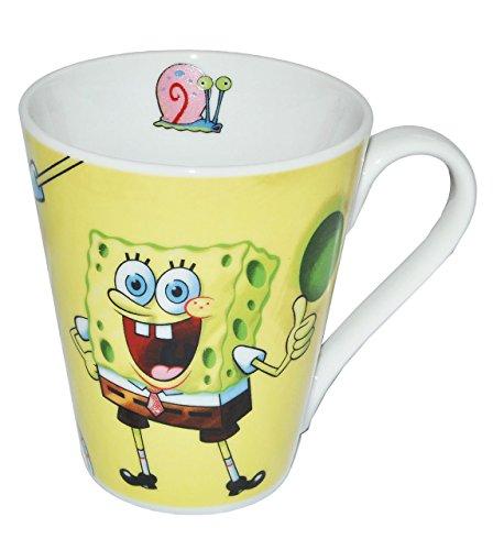 alles-meine.de GmbH Henkeltasse groß - Spongebob - Porzellan / Keramik - Trinktasse mit Henkel Tasse Becher Porzellantasse Tassen für Kinder Mädchen Jungen Schwammkopf Robert
