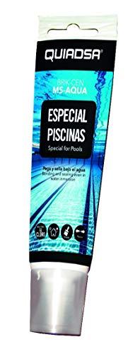 QUIADSA 52503219 Sellante Adhesivo Elástico de Polímero Especial Piscinas, 125 ml
