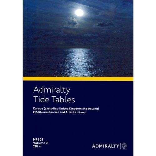 Admiralty Tide Table Vol 2 - Europe (Excluding UK & Ireland), Mediterranean Sea & Atlantic Ocean: Vol 2 (Admiralty Tide Tables)
