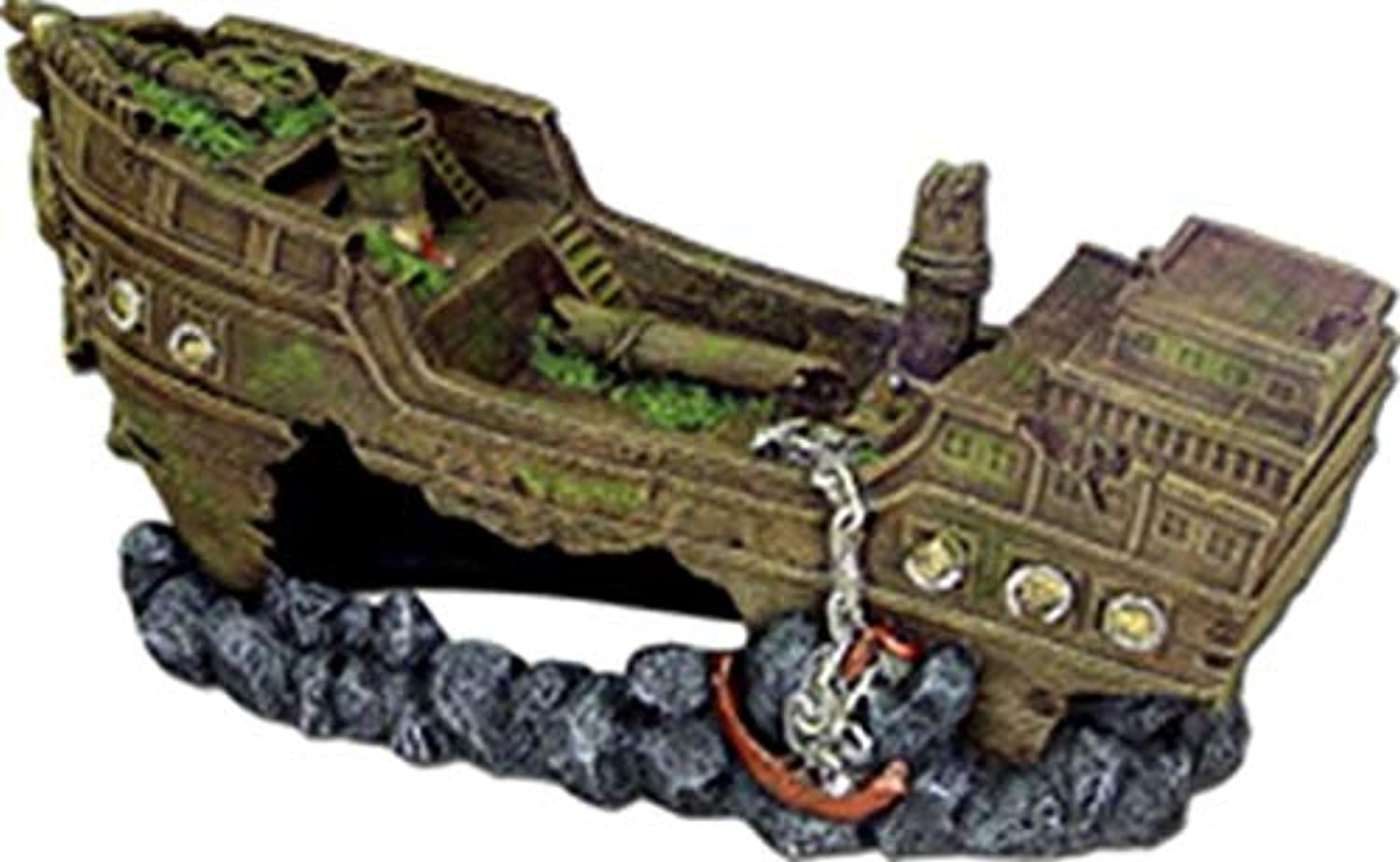 Exotic Environments Shipwreck Aquarium Ornament