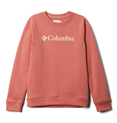 Columbia French Terry Crew Sw Jr Sudadera sin Capucha, Unisex Niños, Rosa (Dark Coral), L