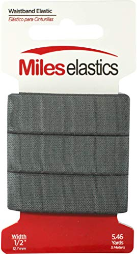 Miles Elastic Waistband Elastic 1' (25,4 mm) by 5,46 Yards(5 Meter) -Navy   Strong Woven Elastic/Machine Washable and Dryable   Oeko-TEX certificated