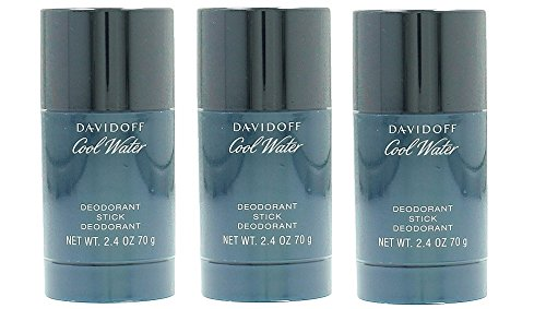 Davidoff Cool Water Deodorant Stick (3 x 75 ml) confezione da 3 pezzi da uomo e da uomo