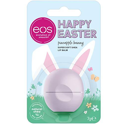 eos Happy Easter Pineapple Bunny Lip Balm Sphere, feuchtigkeitsspendende Lippenpflege, Pflege-Balsam für weiche Lippen, Ananas & Kokosnuss, 7 g