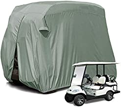 【2020Upgraded】 Outdoor Golf Cart Cover for EZ GO,Club Car, Yamaha, Movaland Custom Cart Cover with 300D Material + Extra PVC Coating Waterproof Dust Prevention (Grey)