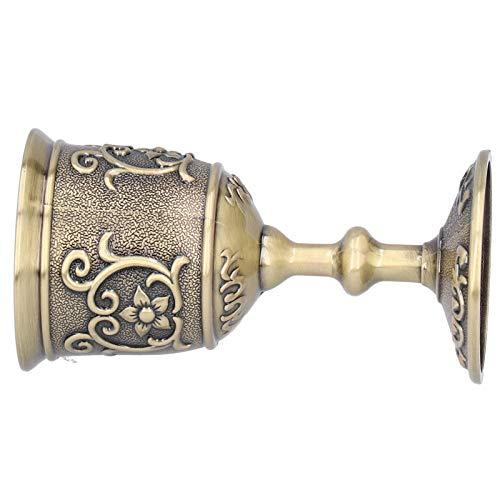 Copas de copa de vino, copa en relieve del cáliz real del rey de latón hecho a mano vintage Copa de licor de metal única de lujo Copa de siete reinos Juego de tronos(large)