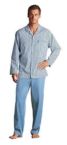 Jockey Herren Comfort Fit Baumwolle kariert lang Schlafanzug Nachtwäsche Nachtwäsche 50043 Gr. Small, Navy