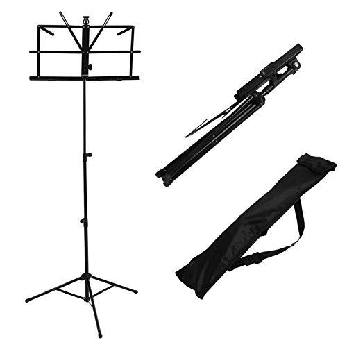 Notenständer2PCS Faltbarer Gitarrenständerhalter Aus Aluminiumlegierung Notenblatt Stativhöhe Höhenverstellbar Mit Tragetasche Für MusikinstrumentTragbarDual UseLeichtgewicht