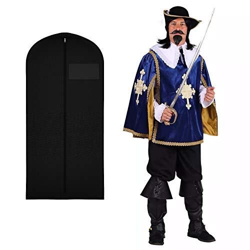WOOOOZY Herren-Kostüm Musketier Aramis Deluxe, blau, zweiteilig, Gr. XL - inklusive praktischem Kleidersack