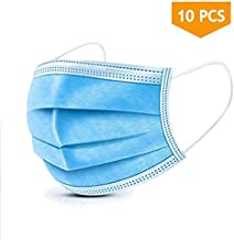 10PCS Disposable Face Masks, 3-Ply Earloop Mouth Mask for Dust and Personal Health,..