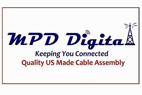 Times Microwave N-Male to N-Male LMR-400 Cable Ultra Low Loss LMR400 Coax Made in USA by MPD Digital (TM) (100 ft)