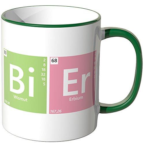 JUNIWORDS Tasse - Wähle eine Farbe -Periodensystem Bier - Grün