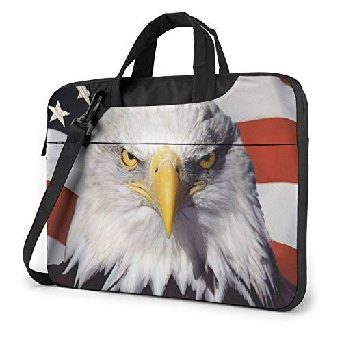 America Flag and Eagle Unisex Laptop Bag Messenger Shoulder Bag for Computer Briefcase Carrying Sleeve