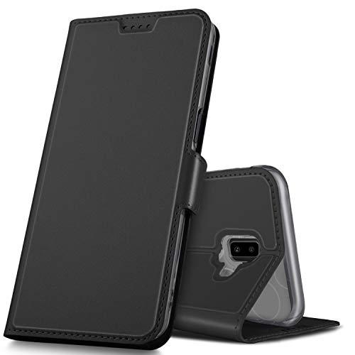 GeeMai Samsung Galaxy J6 Plus Hülle, Samsung Galaxy J6+ Leder Hülle Flip Hülle Wallet Stylish mit Standfunktion & Magnetisch Ledertasche Schutzhülle handyhüllen passt für Samsung Galaxy J6 Plus phone