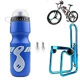Sunshine smile Portabidones para bicicleta, bicicleta de montaña, bicicleta de carreras, con botella de 750 ml, ligero