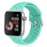 *Vodtian - Corretja esportiva compatible amb Apple *Watch de 42 mm a 44 mm, silicona suau i transpirable compatible amb *iWatch Sèries 5/4/3/2/1 per a dones i homes (Hissi Sigui, 42 mm/44 mm)