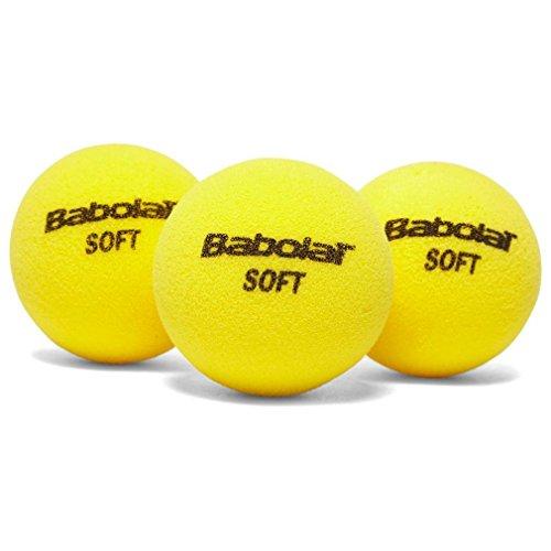 Babolat Soft Foam X3 Pelota de Tenis, Unisex Adulto, Amarillo, Talla Única