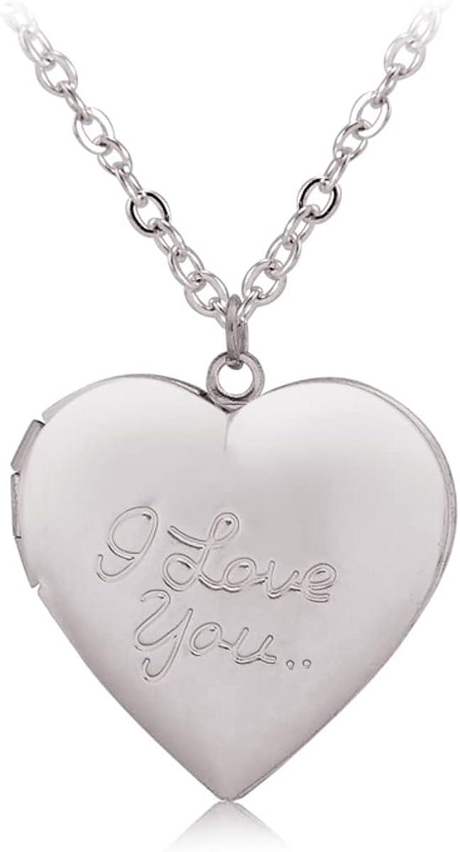 Vintage Heart Pendant Locket Necklace