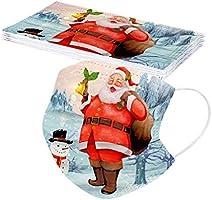Weihnachten Erwachsene Einweg Mundschutz Mehrfarbig Print Mund und Nasenschutz Staubschutz Atmungsaktive Gesichtsschutz...