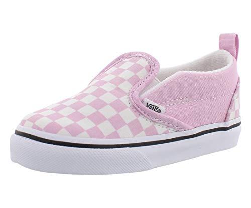 Vans Toddler Checkerboard Slip On V Lila Snow/True White (10 Toddler)