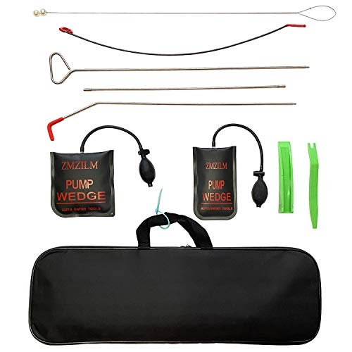 ZMZILM Emergency Car Kit Car Tool Set with Long Reach Grabber Air Pump Bag Tool Kit for Cars and Trucks