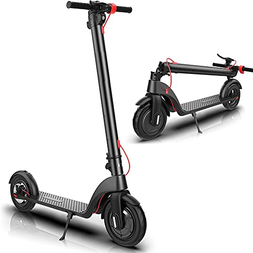 YYGG Electric Scooter, Upgraded Detachable Battery, Max Speed 19 MPH, 8.5-inch Dual Density Tires, Foldable and Portable Commuting Electric Scooter for Adults