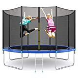 EPROSMIN 12Ft Jump Trampoline - with Enclosure Net - Combo Bounce Outdoor Trampoline for Kids Family Happy Time…