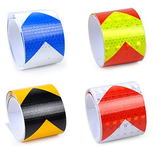 GLOBALDREAM Reflektorband Klebeband, 5 cm x 3 m Reflektierendes Warnband Reflective Tape Reflektorband Selbstklebend Leuchtband Reflektoren Band für Auto/Motorrad/Fahrrad/Nachtaktivität