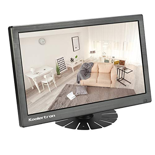 Koolertron CCTV Monitor LCD Monitor with HDMI/VGA/AV Port Support for DSLR/PC/CCTV Camera/DVD/Home Office Surveillance Secure System (11.6 inch 1920x1080)