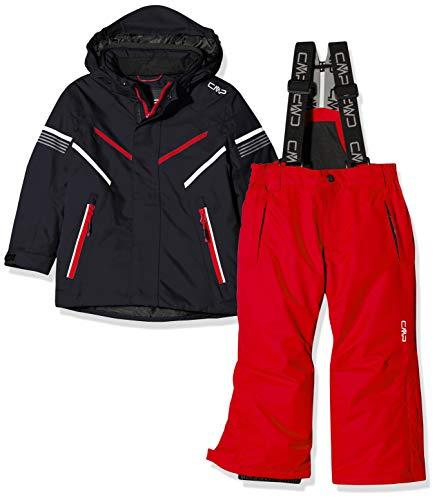 CMP Feel Warm Flat 5.000 39W1844, Set Giacca e Pantaloni Bambino, Antracite, 140