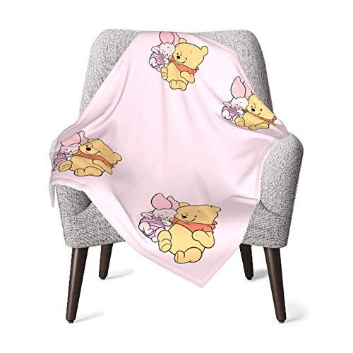 Manta unisex para bebé Winnie and Friend, franela súper suave o manta esponjosa, manta de recepción para bebés o recién nacidos para cuna, manta de invierno, cochecito, viajes, al aire libre, decorat