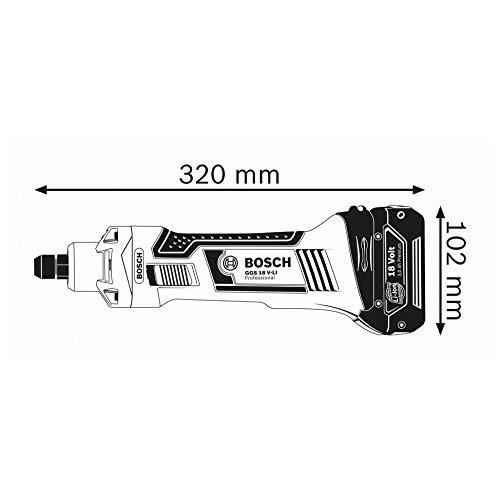 Bosch Professional 18V System Akku Geradschleifer GGS 18 V-LI, (Leerlaufdrehzahl 22.000 min-1, ohne Akkus und Ladegerät, in L-Boxx)