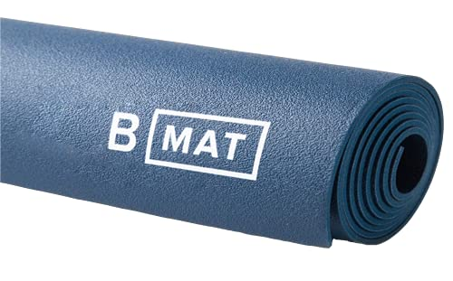 "B YOGA Traveller 2mm B Mat, 100% Rubber High Performance Super Grip Non Slip OEKOTex Certified - for Yoga, Pilates, Workout and Floor Exercises, Deep Blue, 71"""