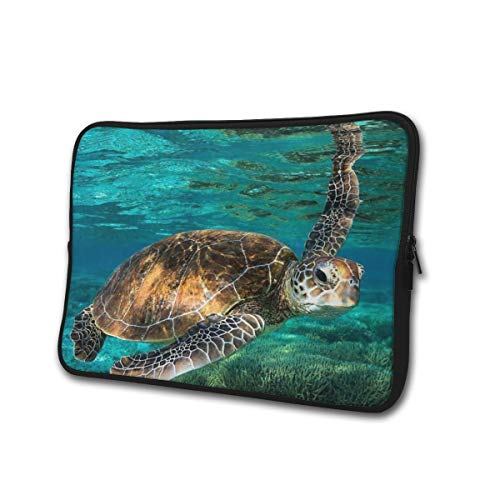 Neoprene Computer Pouch Case Turtle Underwater Animal Fashion Laptop Sleeve Bag for 13-15' Inch Laptop Computer Designed to Fit Any Laptop/Notebook/Ultrabook/MacBook