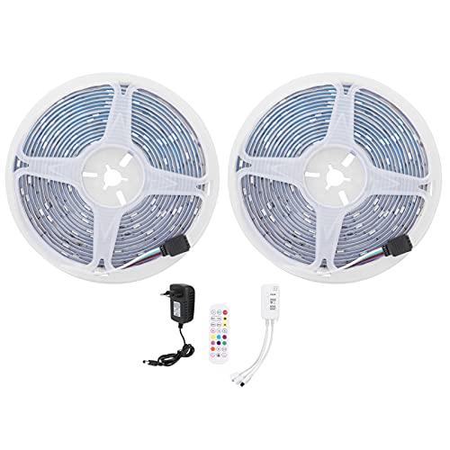 Garosa Tira de luz Colorida de 10M 180LED Tira de luz RGB 12V Regulable Bluetooth App Control EU 100-240V Decoración para Exteriores Tira de luz Flexible de bajo Voltaje IP65 Impermeable