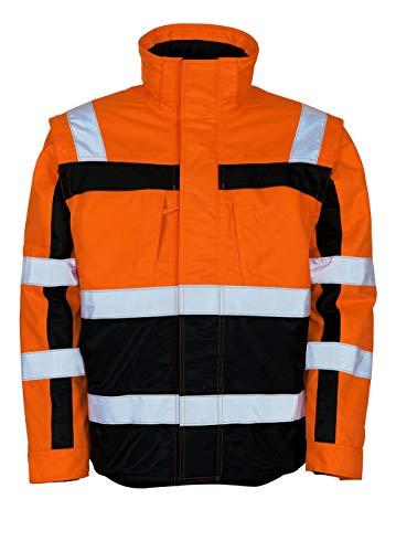 Mascot Loreto Warnschutz Winterjacke 09335-880 - Safe Compete Herren 5XL Hi-Vis Orange/Marine