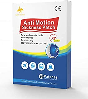 Motion Sickness Patch,Seasick Patches for Cruise Works to Relieve Vomiting,Nausea,Dizziness,Cruise Essentials 20 Patches