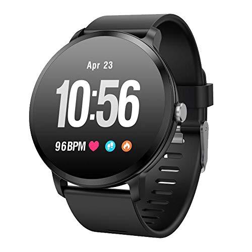 Tracker Uhr, Fitnessarmband,Smartwatch,Fitnessuhr,Fitnesstracker,Sportuhr mit Pulsmesser,Blutdruck-und Schlafmonitor,Schrittzähler,Anruf SMS SNS Beachten IP67 Wasserdicht