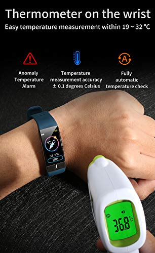 Pulsera de Actividad inteligente IP68 con medición de temperatura corporal para hombres y mujeres, con WhatsApp de… 2