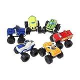 ATING 6X Blaze und die Monster Toy Machines Fahrzeuge Racer Cars Trucks for Kinder Set
