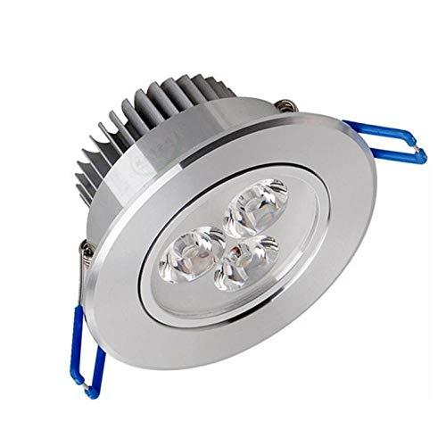 Foco LED Foco empotrado LED Brillante Empotrable 9W 12W 15W 21W Foco LED Decoración Lámpara de techo-Frío_blanco_9W