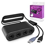 Keten Gamecube Controller Adapter para Switch, Wii U and USB PC, Control de Gamecube Adaptador para Super Smash Bros,Plug & Play (Negro)