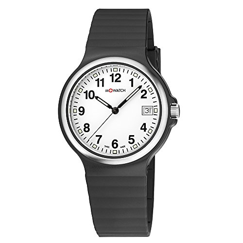 M WATCH Swiss Made Maxi Orologio da uomo/donna, Quadrante bianco con...