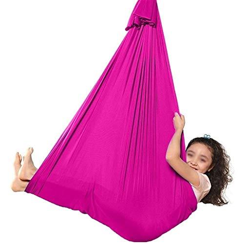 CWYP-MS Hamaca de Yoga aérea, Terapia Swing Terapia Suave Grande Swing con cojinete de Carga 200kg Hamaca Ajustable para niños y Adultos con Necesidades Especiales Autismo ADHD